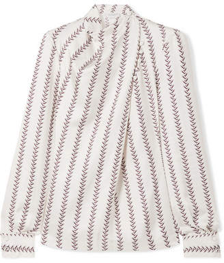 Gabriela Hearst - Marcelina Printed Silk-satin Blouse - White