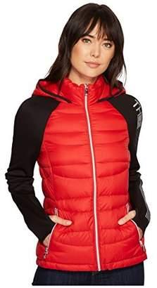 Tommy Hilfiger Women's Wool Blend Short Hooded Duffle Jacket