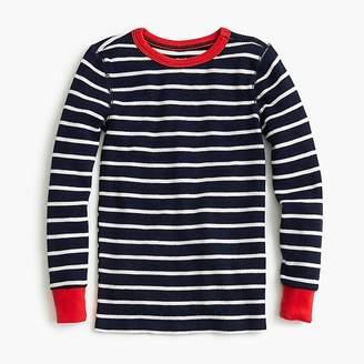 J.Crew Kids' waffle-knit pajama set in stripes