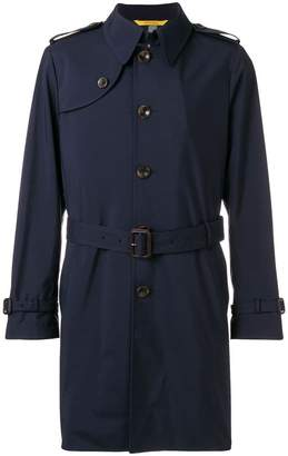 Canali short trench coat