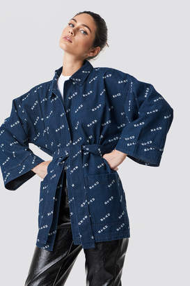 Na Kd Trend Logo denim Kimono Dark Blue