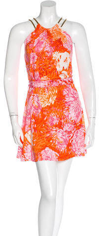 MICHAEL Michael Kors Michael Kors Necklace-Accented Printed Dress