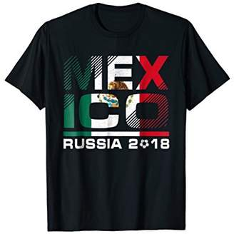Mexico Team Football Russia 2018 World Soccer Cup T-Shirt