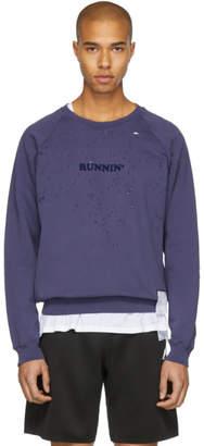 Satisfy Indigo Runnin Moth Eaten Sweatshirt