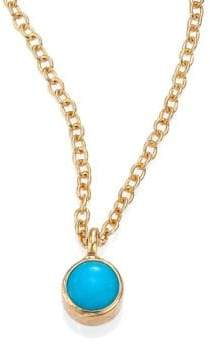 Chicco Zoe Turquoise& 14K Yellow Gold Pendant Necklace
