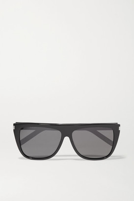 Saint Laurent - D-frame Acetate Sunglasses - Black $304 thestylecure.com