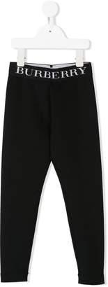 Burberry logo print leggings
