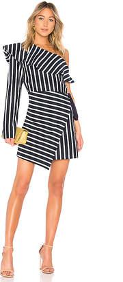 GOEN.J One Shoulder Striped Dress