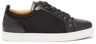 Christian Louboutin Louis Junior Leather And Mesh Trainers - Mens - Black