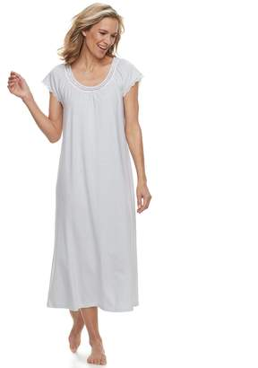 Croft & Barrow Women's Printed Lace Trim Nightgown