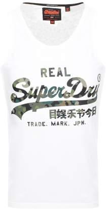 Superdry Vintage Real Logo Vest T Shirt White