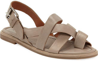 Frye Tait Strappy Leather Flat Sandals