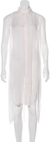 Alexander WangAlexander Wang Sleeveless Shirt Dress
