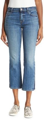 J Brand Selena Cropped Boot-Cut Jeans, Ascension $248 thestylecure.com
