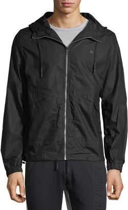Antony Morato Men's Hooded Zip-Front Jacket, Black