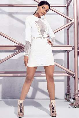 boohoo Premium Petite Ava O-Ring Detail Panel Dress