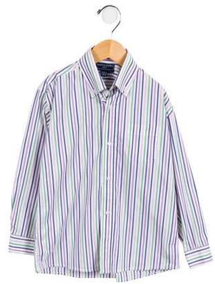 Papo d'Anjo Boys' Striped Button-Up Shirt