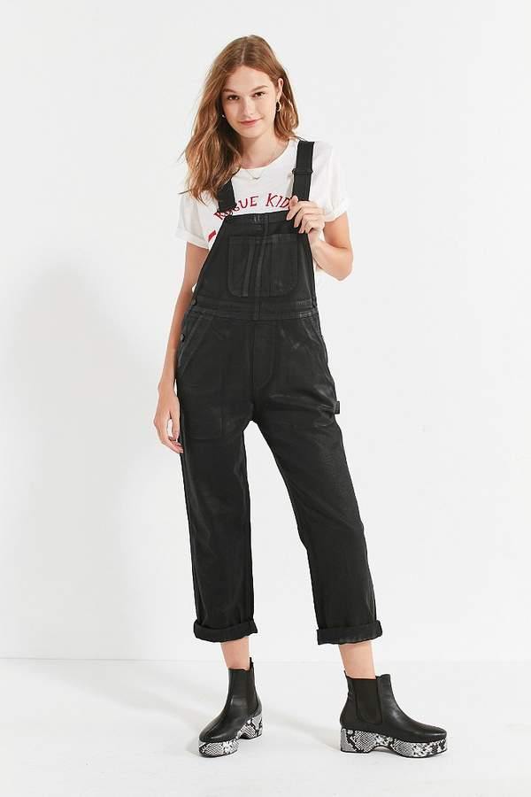 BDG Ryder Boyfriend Overall – Coated Black