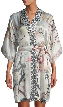 Christine Designs Nightingale Short Silk Robe