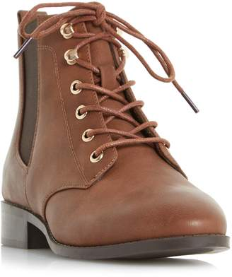 Head Over Heels Peggie Lace Up Chelsea Ankle Boots
