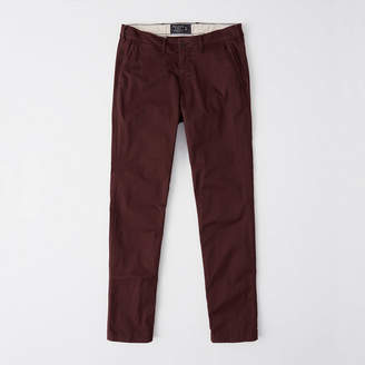 Abercrombie & Fitch A&F Men's Straight Chino Pants in Burgundy - Size 29 X 30
