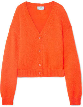 Prada Cropped Mohair-blend Cardigan - Orange