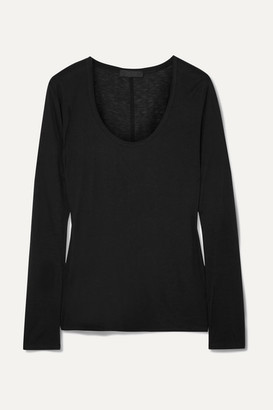 The Row Baxerton Jersey Top - Black