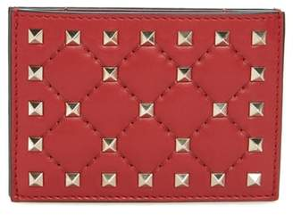 Valentino Rockstud Nappa Leather Card Case