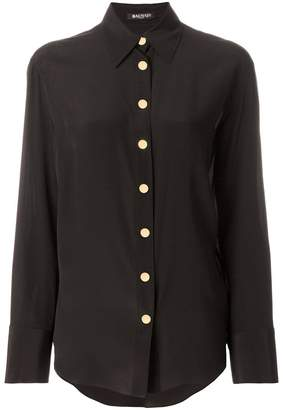 Balmain embellished button shirt