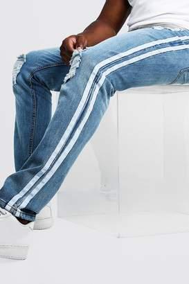 boohoo Big & Tall Skinny Fit Distressed Jean