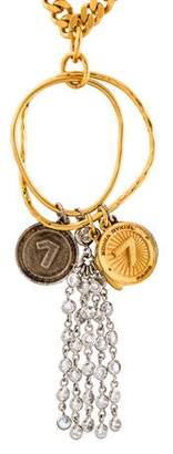 Sonia Rykiel Asymmetric Medal Necklace