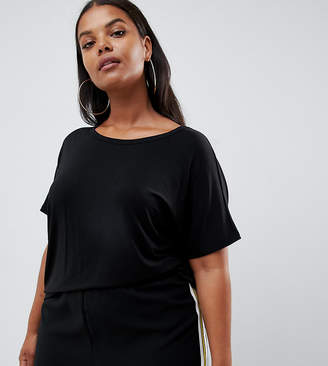 Asos DESIGN Curve formal kimono t-shirt in black
