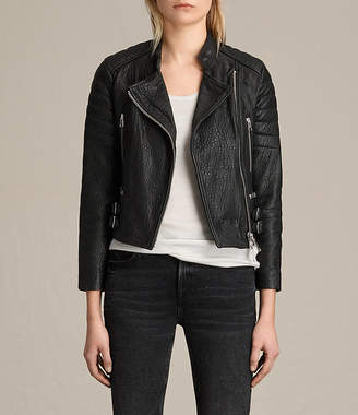 AllSaints Silsden Leather Biker Jacket