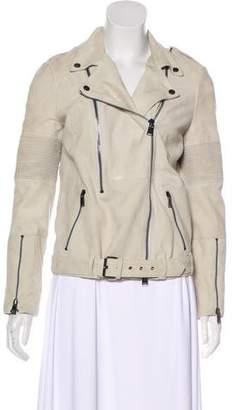 Haute Hippie Zipper-Embellished Leather Jacket