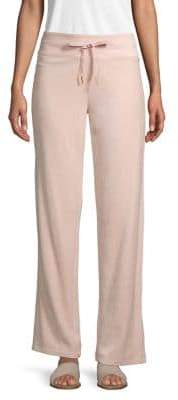 Calvin Klein Velour Wide-Leg Sweatpants