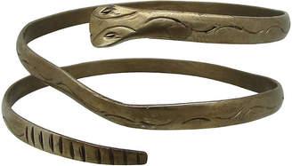 One Kings Lane Vintage Engraved Brass Snake Bangle