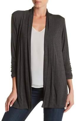 Bobeau Shawl Collar 3/4 Length Sleeve Cardigan