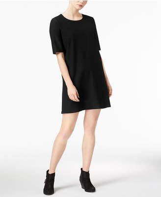 Eileen Fisher Washable Crepe Pullover Short-Sleeve Shift Dress, Regular & Petite