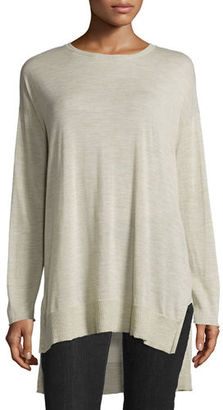 Eileen Fisher Long-Sleeve Luxe Merino Tunic $278 thestylecure.com