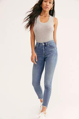 Free People Crvy Mid-Rise Destroyed Skinny Jeans by Denim