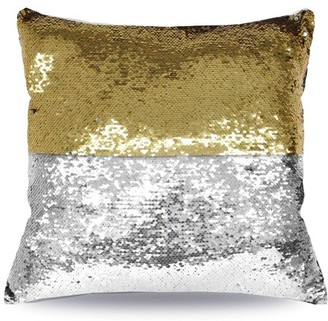 """Mainstays Reversible Sequin Decorative Throw Pillow 17""""x17"""", Gold"""