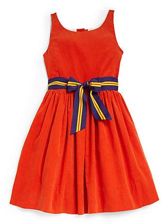 Ralph Lauren Girl's Striped Corduroy Dress