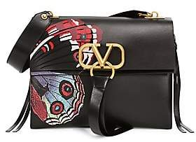 Valentino Women's Medium VSling Undercover Butterfly Leather Top Handle Bag