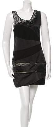Alice + Olivia Sleeveless Sequin-Accented Dress