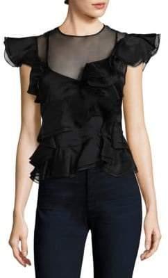 Rebecca Taylor Ruffled Silk Top
