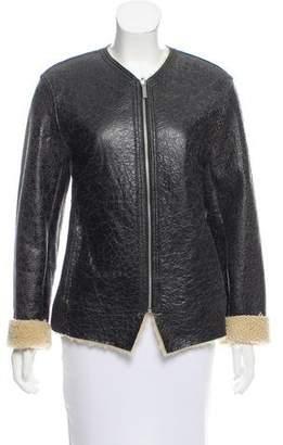 Etoile Isabel Marant Zip-Up Shearling Jacket