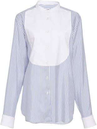 Loewe Striped Silk And Cotton Bib Shirt