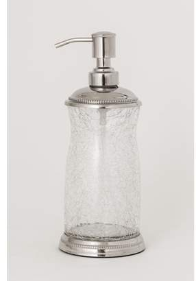 clear La Bella Crackle Glass Lotion Dispenser With Chrome Finish