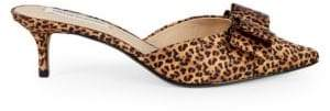 Saks Fifth Avenue Leopard Print Bow Mule Pumps