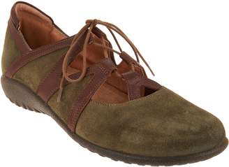 Naot Footwear Leather or Suede Lace-up Flats - Timu